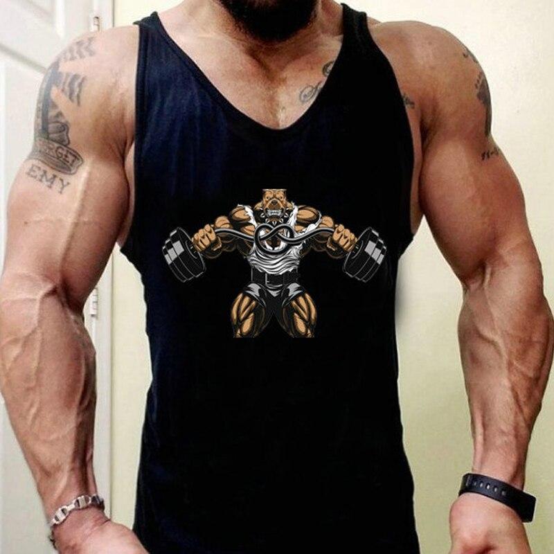 New printing men clothes 2018 Singlets Mens   Tank     Tops   Shirt,Gyms Bodybuilding regatas masculino   Tank     Top   fitness clothing