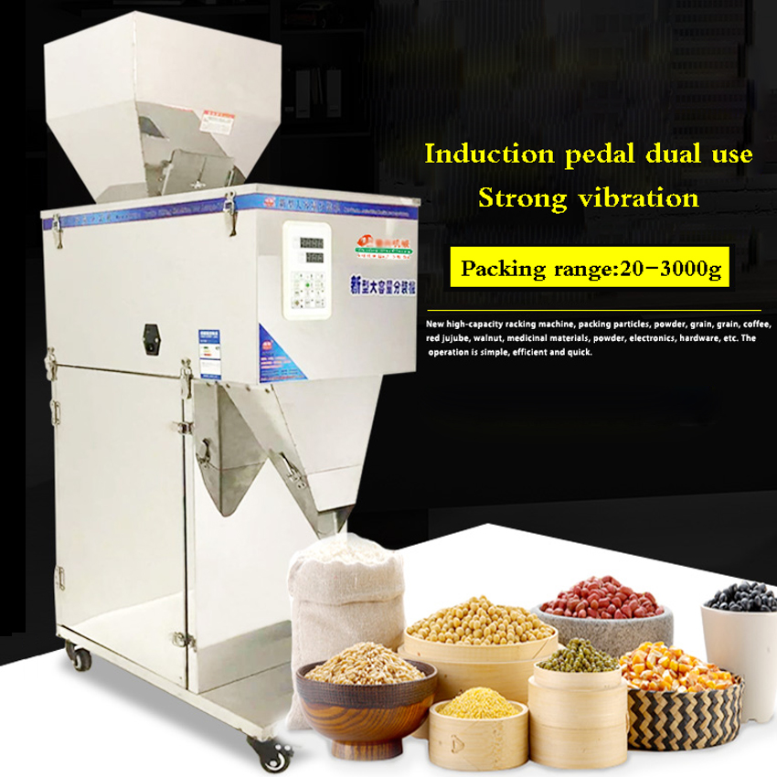 20 3000g Automatic Granules Weighing Packaging Machine Powder All stainless steel Tea Coffee nuts filling Packing Machine filler|machine machine|powder powder|machine automatic - title=