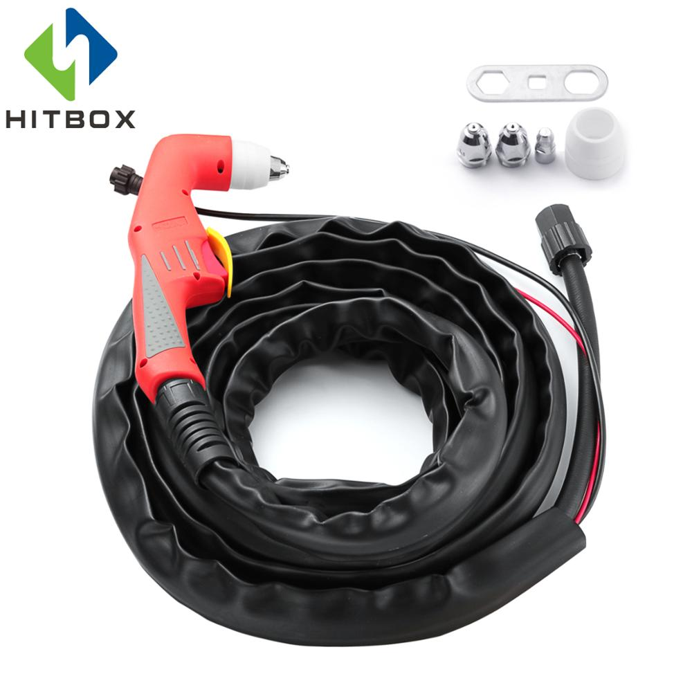 Hitbox P80 Plasma Gun Plasma Cutter Cutting Machine Accessories Torch for LGK60 LGK80 LGK100,5M 2016 new p80 plasma gun gloves 5m plasma cutter cutting machine accessories torch head air cooled plasma cutting 100a 120akit