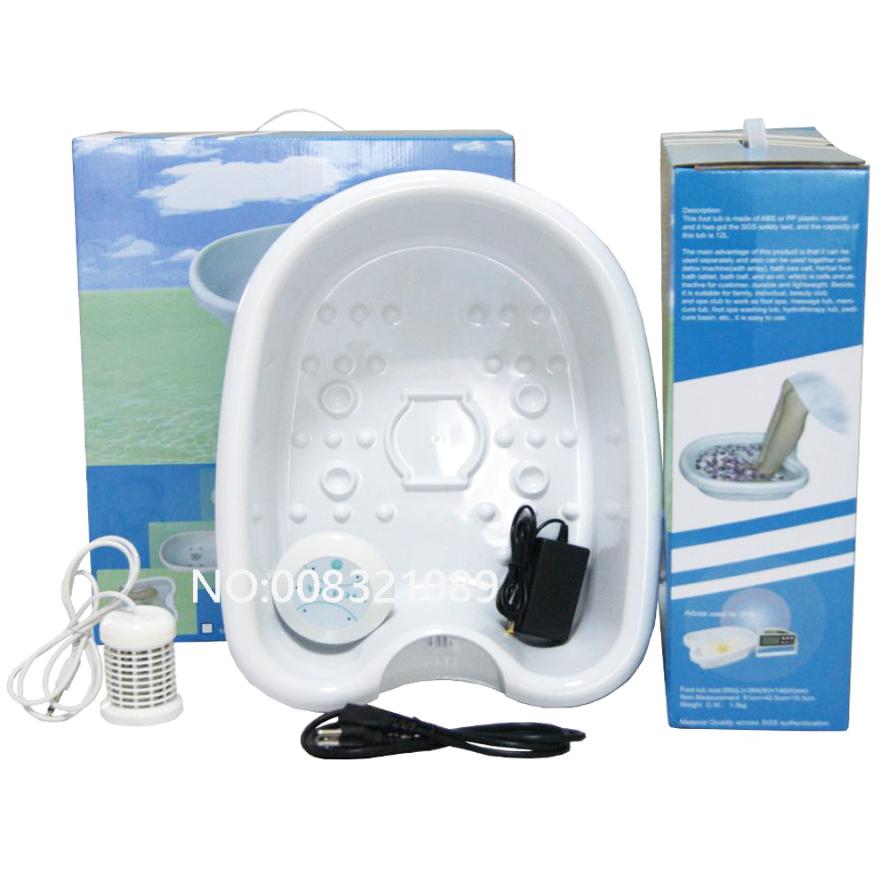 цена на Ionic Ion Detox Foot Bath Cell Cleanse SPA Machine Foot Spa Tub 1 Arroy Health Care Set with Plastic Basin 110-240V EU US UK AU