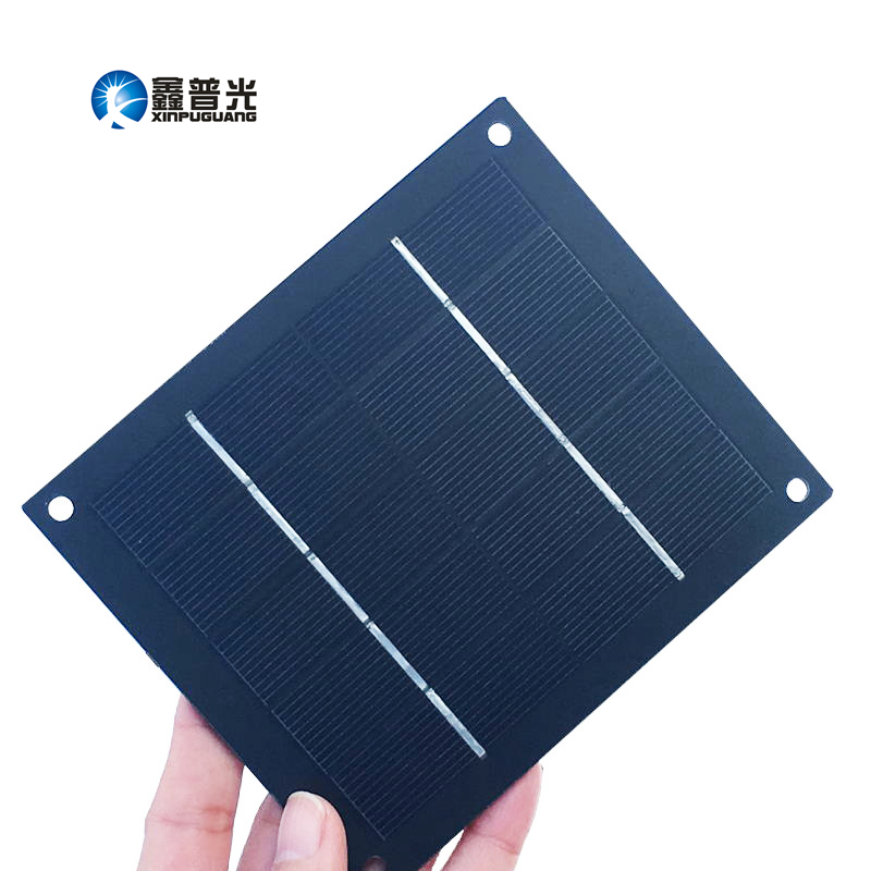 Xinpuguang 2W 5V mini DIY solar panel Monocrystalline silicon cell PV eyelets kit for 18650 battery toys educational kit