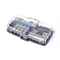 Multi-funzionale LED Car Audio Stereo Mini ANL Fuse Box Con 4 Way blocco Fusibili 30A 60A 80Amp e Distribuzione Batteria 0/4ga