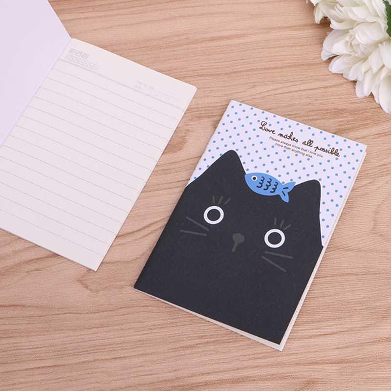 Gato dos desenhos animados Notebook Doce Capa Dura Livro de Bolso Diário Notepad Sketchbook