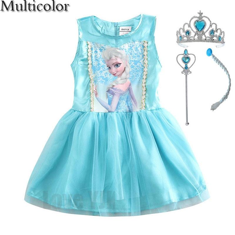 c94aff535 Vestido de princesa chico bebé vestido de niña para 2-10 años de los niños  de la marca Vestidos Niña de Vestidos de fiesta de Cosplay del traje ropa  ...