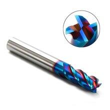 1PC kesme HRC65 4 flüt D1mm 12mm 1.5mm 2mm 3mm 4mm 5mm 6mm 8mm alaşım karbür freze Tungsten çelik freze kesicisi End Mill