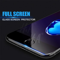 Full Cover 9H Hard Edge Tempered Glass For iPhone 6 6s Plus Explosion-Proof Screen Protector For iPhone 7 7Plus Protective Film