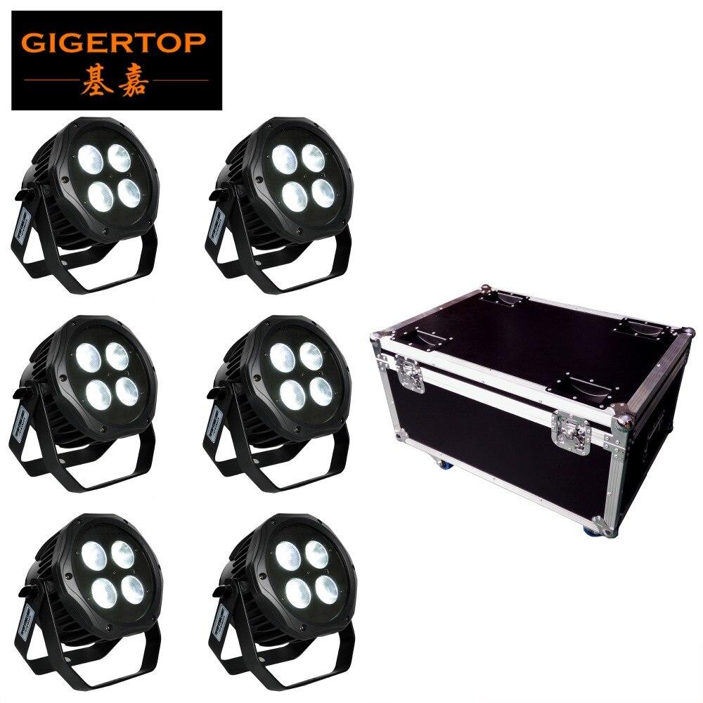 Roadcase de carga Paquete 6in1 Batería 6in1 Luz LED par impermeable 4x18W RGBWA UV 6 Batería inalámbrica de color Etapa de lavado Luz