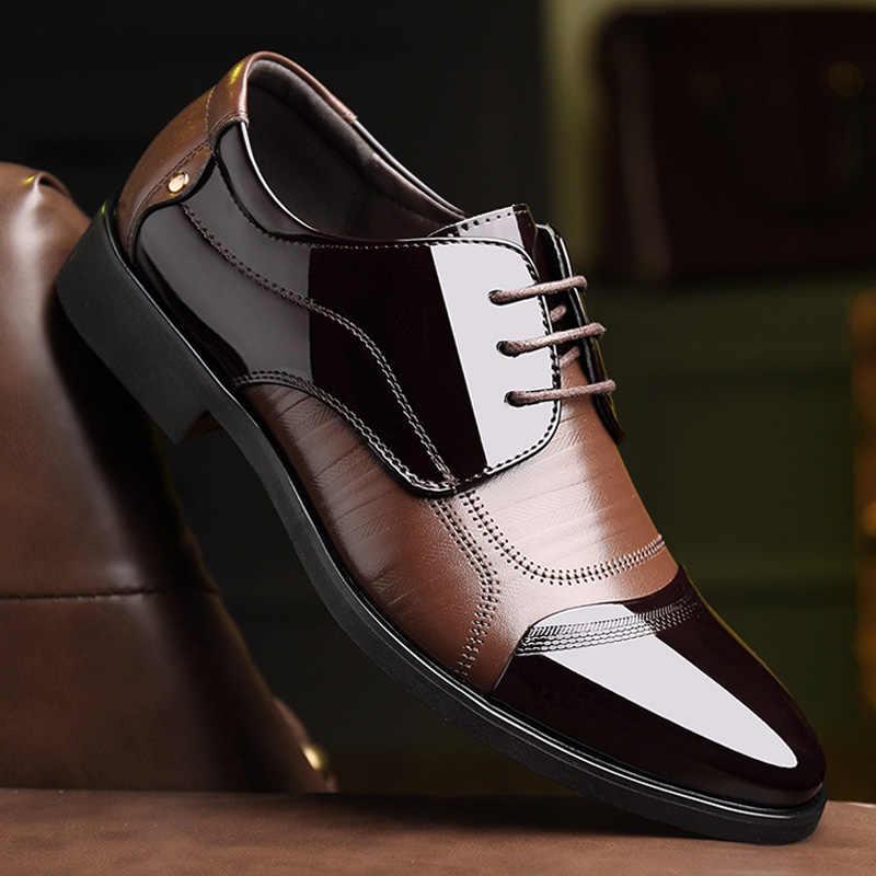 ربيع الموضة Oxfords الأعمال حذاء رجالي جلد طبيعي رجالي فستان أحذية تنفس الأحذية الرسمية الراحة الذكور أحذية الزفاف