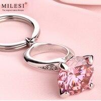 Milesi 2017 Brand Creative Zircon Crystal Diamond Ring Key Chain Keychain Rings For Women Novelty Gift