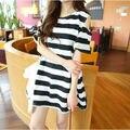 2016 new summer women dress pregnant women dress striped strapless dress Korean pregnant women dresses pregnancy clothes