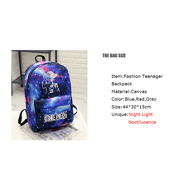 BONAMIE Night Light Cool Backpack Canvas Backpacks School Bags For Teenager  Girls Boys Book Bag One Piece Starry Sky Backpack-in Backpacks from Luggage  ... cd275310e62e7