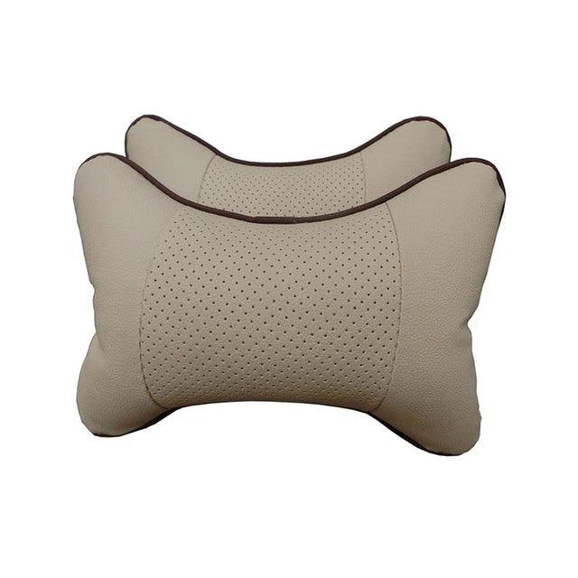Car Pillow four seasons Memory Fabric Neck Headrest Car Covers Vehienlar Plaid Pillow Car Seat Cover Headrest Neck Pillow 2pcs