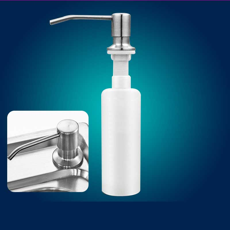 Us 1 07 21 Off 300ml Stainless Steel Kitchen Sink Countertop Soap Dispenser Built In Hand Soap Dispenser Pump 360 Degrees Rotary In Liquid Soap