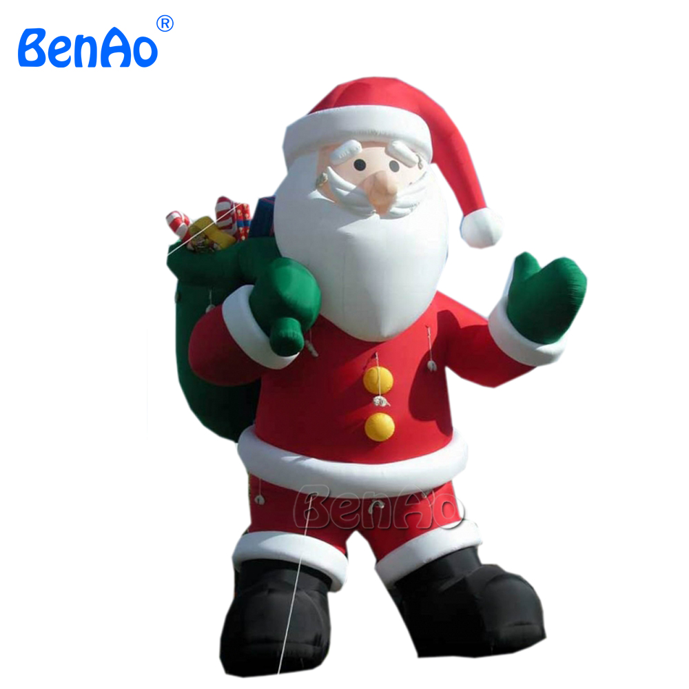 X030  8m High inflatable Santa Claus decoration for Christmas 5m high big inflatable christmas santa claus climbing wall decoration 16ft high china factory direct sale festival toy