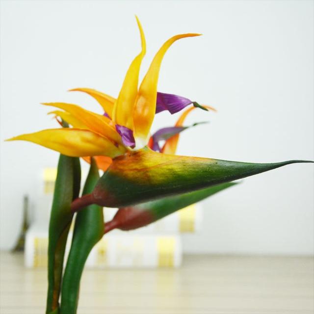 3Pcs/lot Craft Artificial Flower Bouquet Single Head Soft Plastic ...