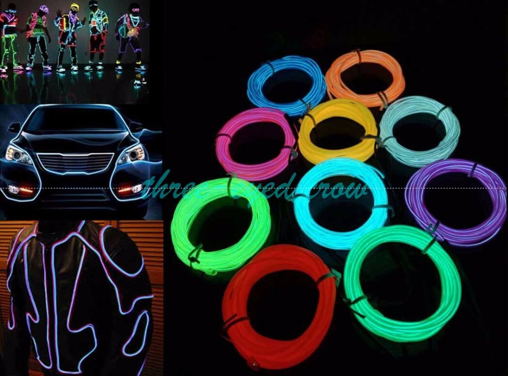 Colors m led strip el wire tube rope aaa battery powered