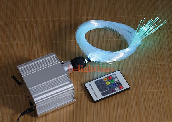 DIY optic fiber light kit led light engine with optical fiber color change twinkle star sky ceiling light 20W RGB IR remote decoration optical fiber light kit led light engine cables tailpieces fibre optic color change twinkle effect diy stars