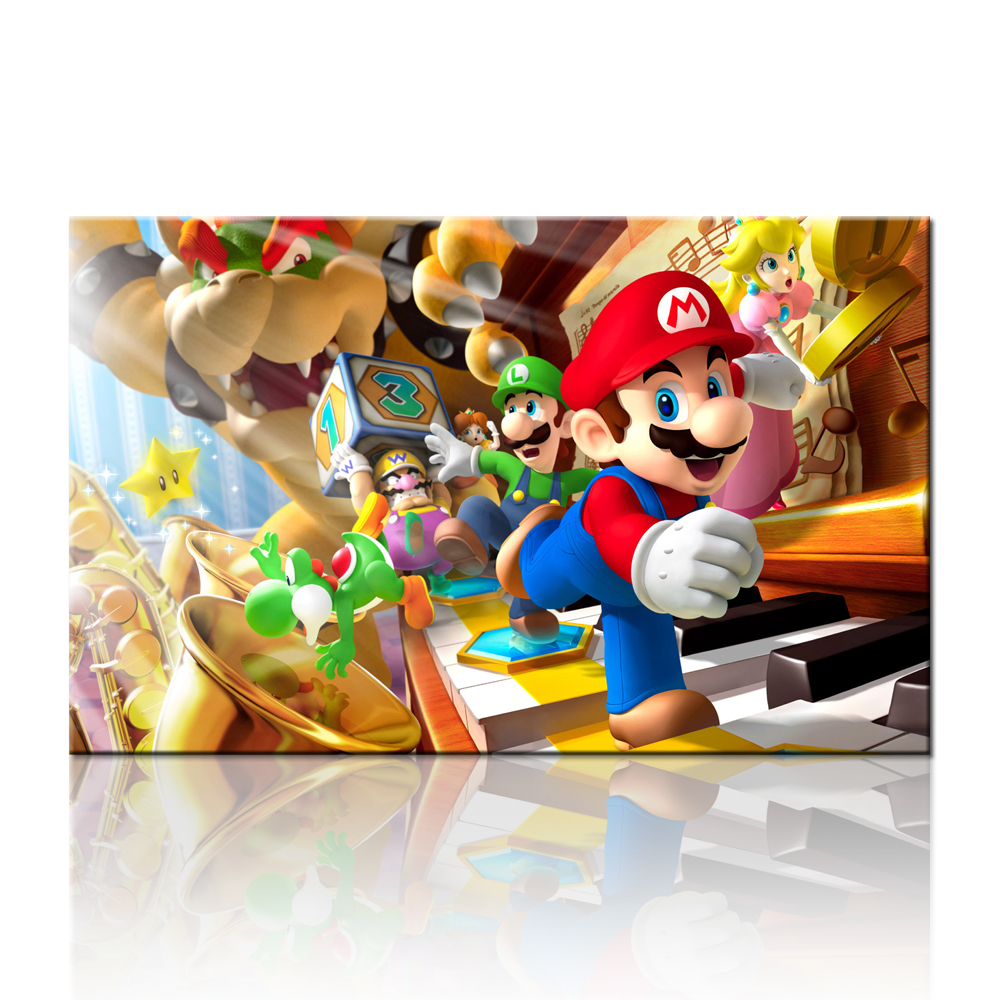 Free shipping mario 3d art prints bulk buy from china for Buy canvas prints online