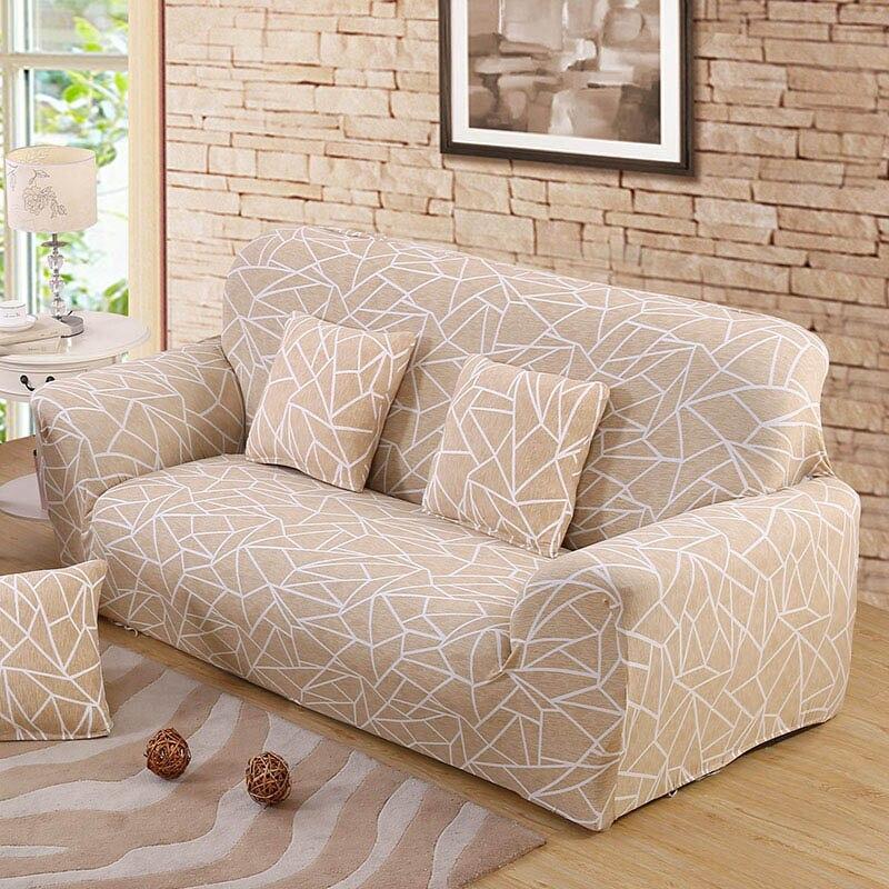 Beige cubierta de sofá de muebles cubre elástico sofá cubre para la sala de Copridivano fundas para sillones sofá cubre