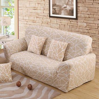 Beżowa narzuta na sofę elastyczne pokrowce na meble elastyczna narzuta na sofę s do salonu Copridivano pokrowce na fotele poszewki na kanapę tanie i dobre opinie FORCHEER 145cm-185cm sofa cover 1 2 3 4 seater Printed Żakardowe Liście Podwójne siedzenia kanapa Polyester Cotton