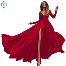Ameision Sexy Evening Dresses Side Split Chiffon Evening Gown Long Formal Women Prom Party Gowns Robe De Soiree Abendkleider цена