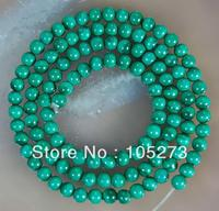 New Arriver Gem Jewellery ! Stunning AA 3 4MM Natural Green Malachite Round Loose Beads 15inch/String Wholesale Free Shipping