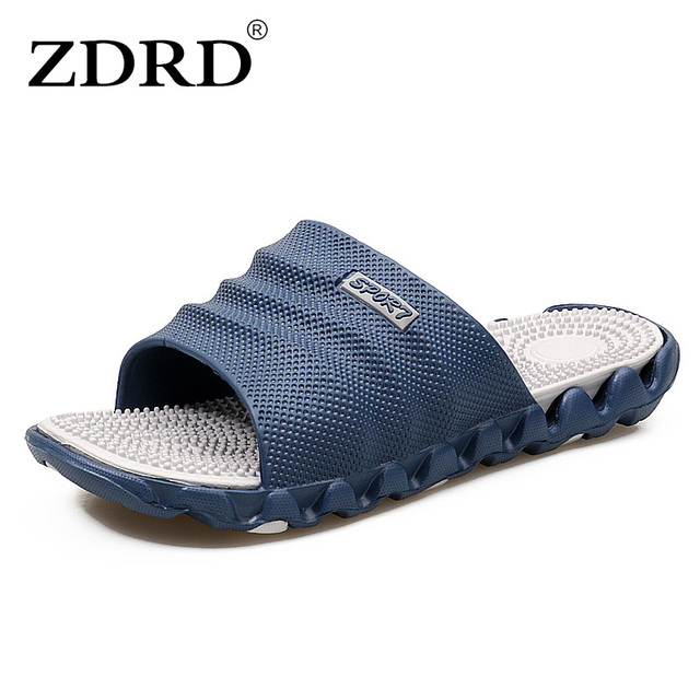 4770fe09ff73a5 ZDRD 2017 Summer Slippers Men Casual Sandals Leisure Soft Slides Eva  Massage Beach Slippers Water Shoes Men s Sandals Flip Flop