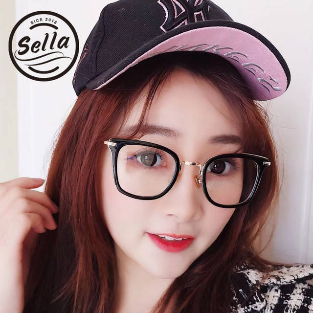 120b6c071c1 Sella Korean Style Fashion Women Men Retro Round Glasses Frame Trending  Ladies Clear Lens Alloy Eyewear