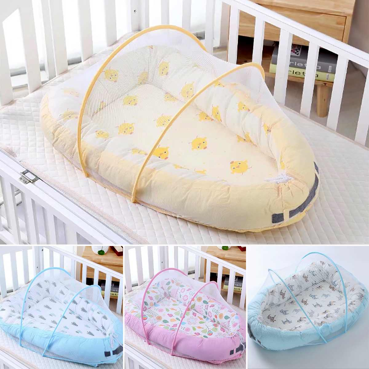 Baby Bassinet Linen Us 36 95 43 Off Baby Alcofa Nest Bed Portable Crib Travel Bed Infant Toddler Cotton Cradle Protable Carrycot For Newborn Baby Bassinet Bumper In