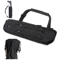 Nylon Tactical Shotgun Holster Rifle Scabbard Black Military Molle Assault Hunting Bag Long Gun Protection Carrier