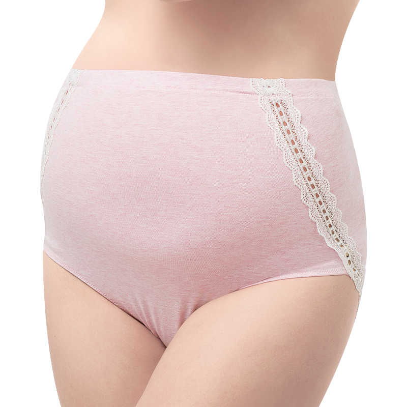 28e3d86093f3 ... Maternity Underwear Comfortable Maternity High Waist Underwear Soft  Lace Cotton Maternity Panties Pregnancy Intimates Clothing ...
