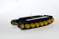 1PC RC Car Crawler Chassis 51 MCU Tank Robot Chassis 4 7.2V Double 130 Motor Track Wheel Spare Parts for RC Car/Tank Model