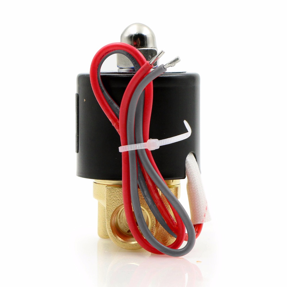 Us Solid 1 4 Brass Electric Solenoid Valve 24 V Ac Normally Volt Home Wiring Closed For Water Air Diesel Ce Certified In From Improvement On