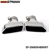Chrome 304 Stainless Steel Exhaust Muffler Tip For BMW 13-14 5-Class F18/F10 EP-EM8094BMWT