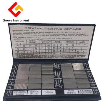 HY-3 Surface Roughness Comparison Sample Block Notebook Sample 30 Blocks Ra0.05-12.5mm Roughness Sample Block
