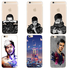 Barcelona Football Super Star Messi Neymar Ronaldo Phone Cases For iPhone 8 7 6 6S Plus X 5 5S SE Hard Plastic Case Cover Capa(China)