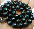ddh003807 GENUINE 9-10MM BLACK NATURAL TAHITIAN PEARL NECKLACE 28% Discount 5.6