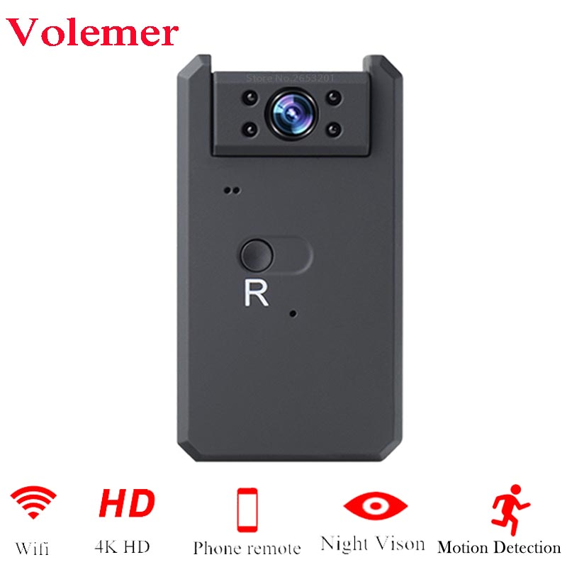 Mini WiFi Camera 4K HD 1080P Video Audio Recorder with IR Night Vision Motion Detection Small Wireless Camcorder Car Micro CamMini WiFi Camera 4K HD 1080P Video Audio Recorder with IR Night Vision Motion Detection Small Wireless Camcorder Car Micro Cam