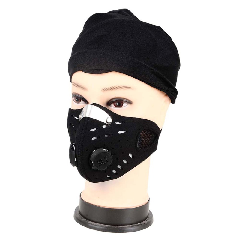 Outdoor Anti-dust Cycling Face Mask Anti-pollution Air Filter Breathable Bike Bicycle Riding Hiking Face Masks Men Women headpiece