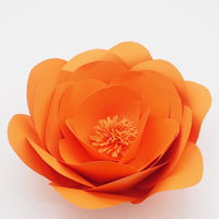 1 Piece 30CM Orange High Quality Cardstock Customized Giant Paper Flower For Wedding Backdrops Windows Display