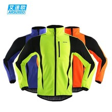 ARSUXEO Winter Thermal Cycling Jacket Warm Up 2019 Bicycle ropa ciclismo  Windproof Waterproof Soft shell Coat MTB Bike Jersey цена
