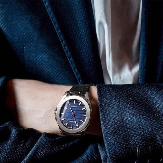 9dc505644e9 Agelocer Top Brand Luxury Dress Watches Blue Dial Steel Automatic Watches  Date Luminous Waterproof Mens Watches 6304A1