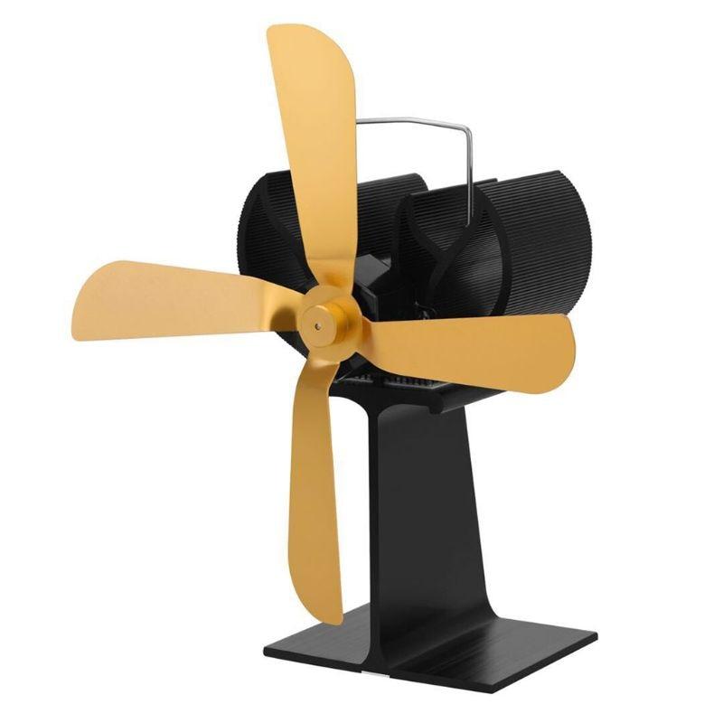 Heat Powered Wood Stove Eco Friendly Fan Ultra Quiet 4 Blades Burner Fireplace Blower Silent Ecofan
