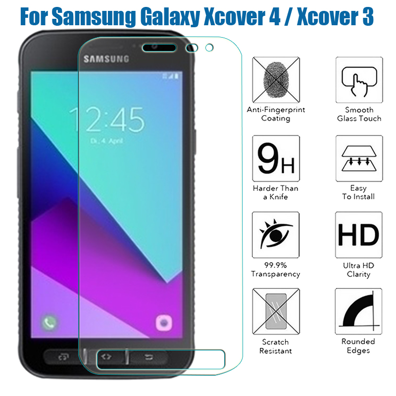 Tempered Glass Case Cover Coque For Samsung Galaxy Xcover 4 G390F / Xcover 3 G388F Screen Protector  X Cover 4 & X Cover 3 9h