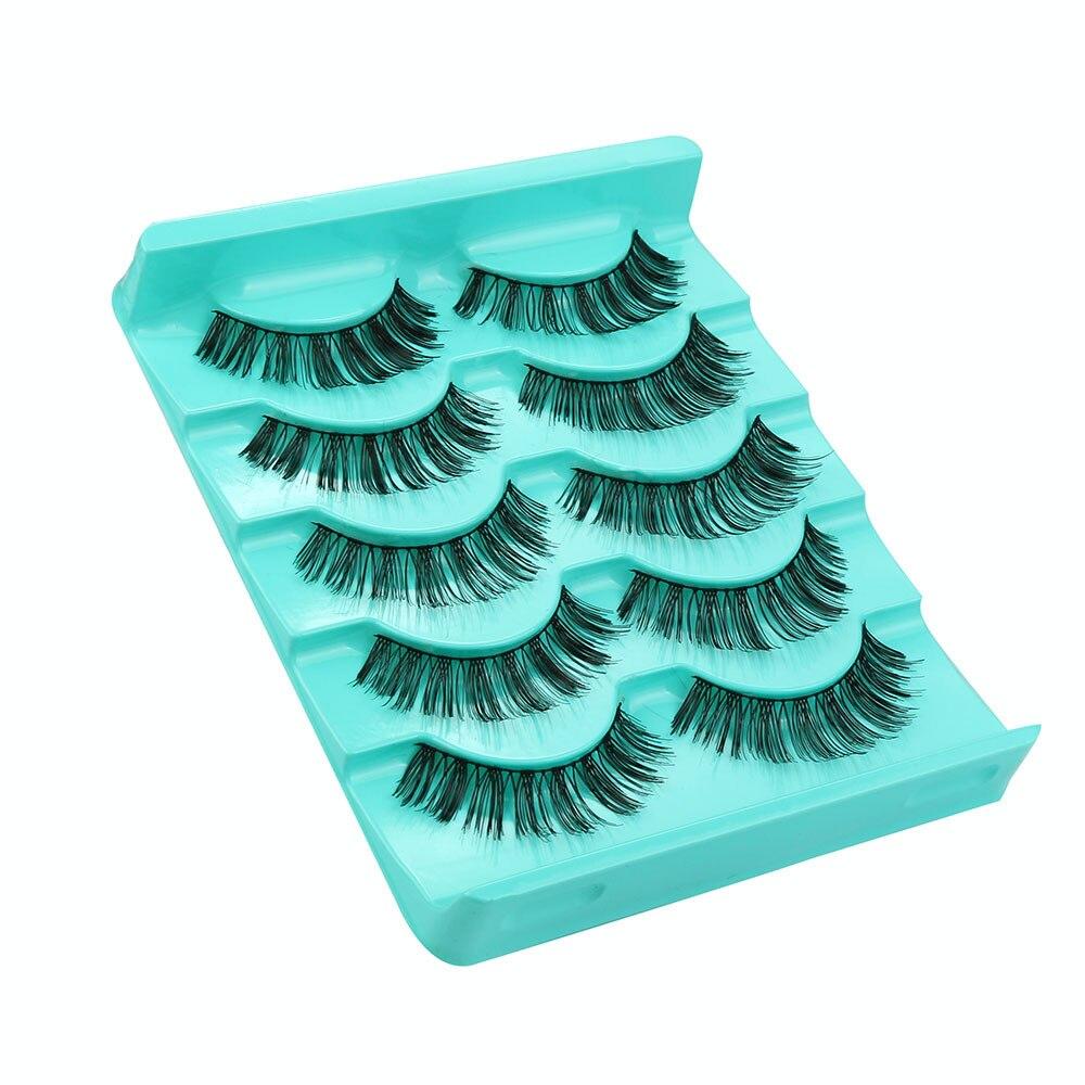 2017 5 Pairs/Lot Crisscross Thick Long False Eyelashes Lashes Voluminous Hot sale Eye Lashes Extention Tools Pestanas falsas