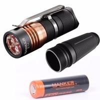 Manker E14 1600 Lumen 4x Cree XPG3 Nichia 219B LED 18650 Flashlight 18650 Tube High Drain