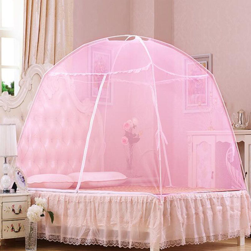 100/% Satisfaction Guarantee Pink Baby mosquito cover free to install portable yurts foldable stent with cushions Carry Bag,Insect Protection Repellent