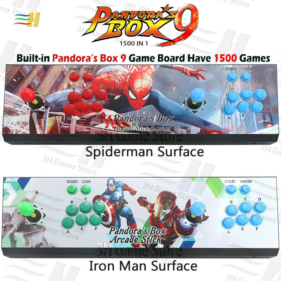 2019 New Pandora box 9 arcade game console 1500 in 1 video game HDMI VGA usb joystick for pc ps3 TV pacman pandora's box 5s 6s 7
