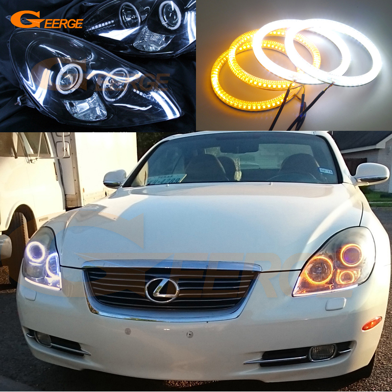 For lexus SC 430 SC430 2005 2006 2007 2008 2009 2010 Excellent Ultra bright Dual Color Switchback smd LED Angel Eyes kit motocross dirt bike enduro off road wheel rim spoke shrouds skins covers for yamaha yzf r6 2005 2006 2007 2008 2009 2010 2011 20