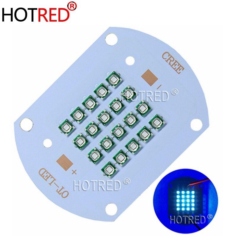 Alta Potência 3535 w UV 50 Roxo Chips de LED 395nm 400nm 365nm 370nm Lâmpada de Cobre Cheio de luz de Diodo para uv cola de cura de tinta luz
